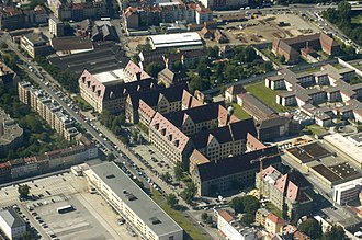 Palace of Justice, Nuremberg - Aerial photography, 2009