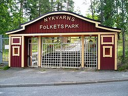 Nykvarn Folkpark, entrance