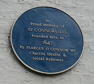 Feargus O'Connor - Feargus O'Connor commemorated at Heronsgate