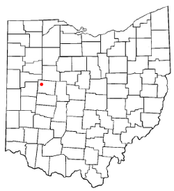 Location of Lewistown, Ohio