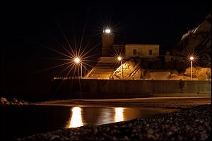 Capo d'Orlando - The lighthouse of Capo d'Orlando by night