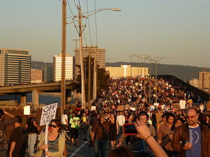 Occupy Oakland - One of the marches to the Port of Oakland during the 2011 Oakland General Strike on Nov. 2, 2011