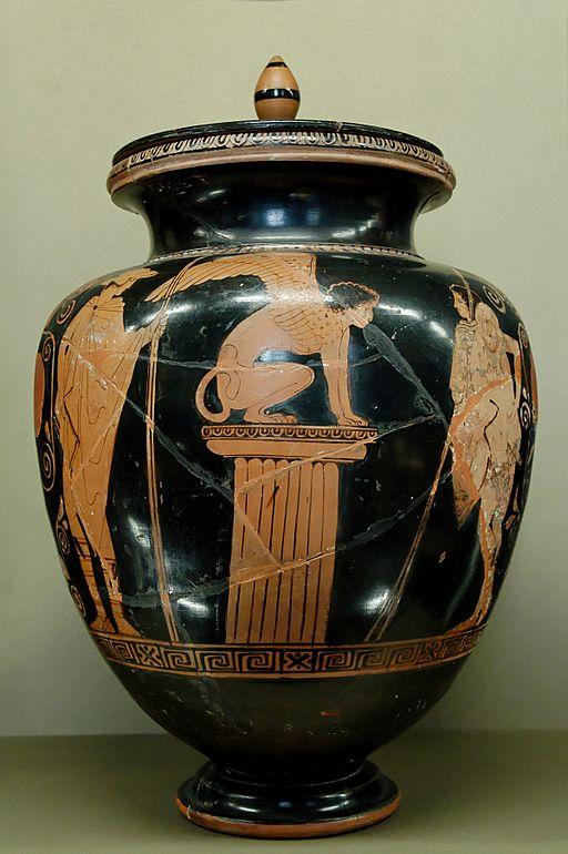 Oedipus sphinx Louvre G417 full