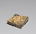 Ogata Kenzan - Incense Box in the Shape of a Folding Fan - Walters 491372 - Open.jpg
