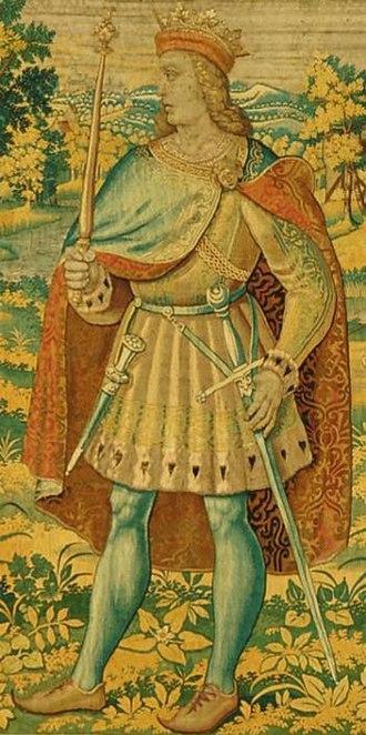 Olaf II of Denmark - Olaf II depicted on the Kronborg Tapestries (Kronborg Castle)