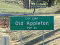 Old Appleton, Missouri, Road sign.jpg