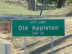 Old Appleton, road sign