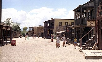 Old Tucson Studios - Old Tucson buildings in 1984, before the 1995 conflagration