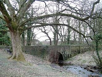 Old Hay Brook - The bridge which carries Old Hay Lane over Old Hay Brook
