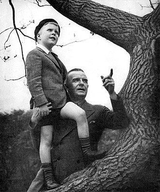 Frank Conroy (actor) - Frank Conroy with child actor Peter Holden On Borrowed Time (June 1938)