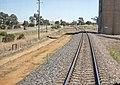 On the Main Southern railway line passing the Shepherds Siding silos.jpg