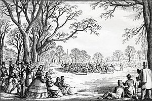 Oneida Football Club - Artistic rendition of an Oneida FC game played at Boston Common.