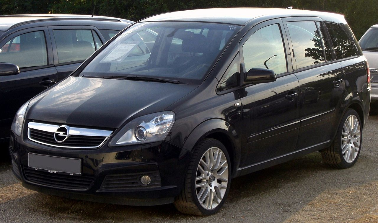 file opel zafira b 1 9 cdti front jpg wikimedia commons. Black Bedroom Furniture Sets. Home Design Ideas