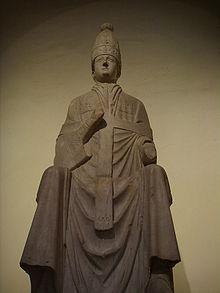 Arnolfo di Cambio, statua di Bonifacio VIII, 1298 ca, conservato presso il Museo dell'Opera del Duomo, Firenze.