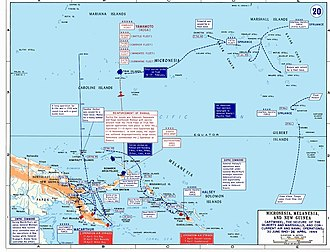 New Britain campaign - Allied and Japanese operations associated with Operation Cartwheel between June 1943 and April 1944