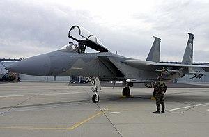 Kingsley Field Air National Guard Base - Image: Oregon Air National Guard F15