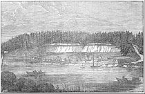 Een schets van Oregon City, 1847