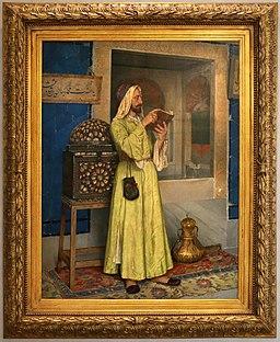 Osman hamdi bey, fontana della giovinezza (arabo che legge un libro), 1904