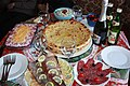 Ossetian pirogi are put in the center of festive table.jpg
