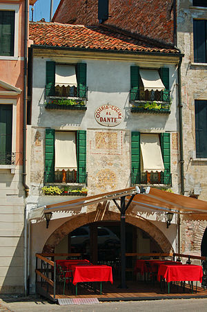 English: A restaurant in Treviso, Italy.
