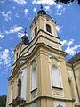 Ostružno (okr. Jičín), kostel Povýšení sv. Kříže, věže.JPG