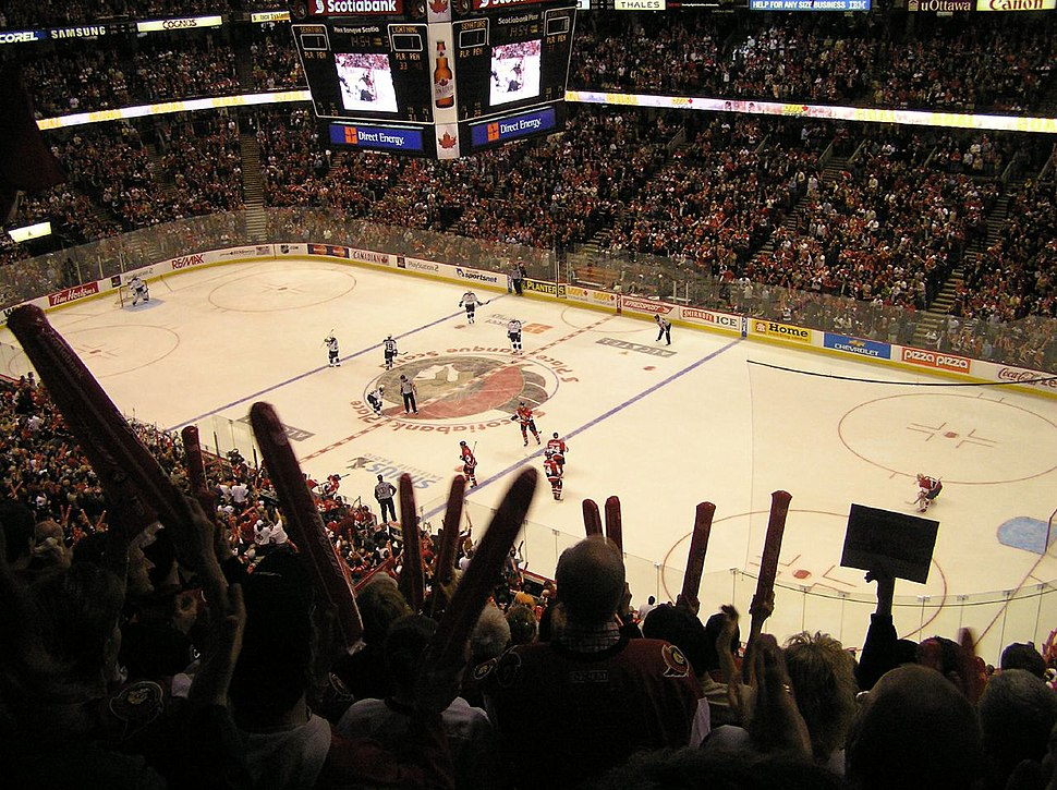 Ottawa v Tampa Bay entire ice April 22 2006