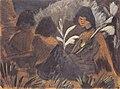 Otto Mueller - Drei sitzende Zigeunermädchen im Wald - ca1928.jpeg