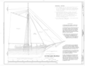 Outboard Profile - Schooner C.A. THAYER, Hyde Street Pier, San Francisco, San Francisco County, CA HAER CAL,38-SANFRA,199- (sheet 6 of 38).png