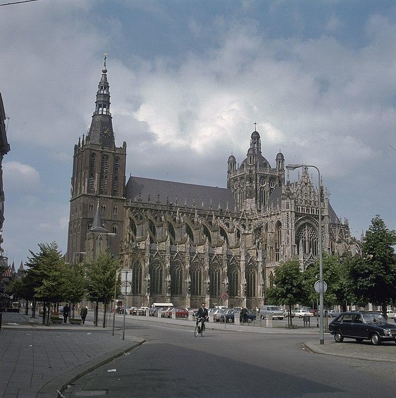 Overzicht van de zuidwestgevel met kerktoren - 's-Hertogenbosch - 20381297 - RCE.jpg