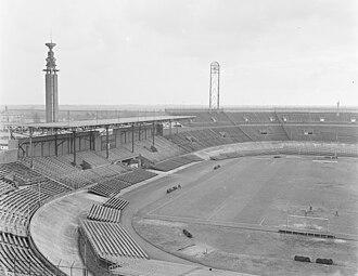 1961–62 European Cup - Image: Overzichten Olympisch Stadion Amsterdam, Bestanddeelnr 906 2648