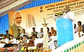 P. Radhakrishnan addressing at the foundation stone laying ceremony for 4 laning of Madurai – Paramakudi section, 2 laning of Paramakudi – Ramanathapuram section of NH 49 and 2 laning of Nagapattinam – Thanjavur section.jpg