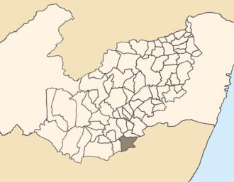 Correntes, Pernambuco - Location of Correntes within Pernambuco.