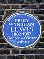 PERCY WYNDHAM LEWIS 1882-1957 Painter and Writer lived here.jpg