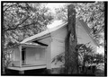 PERSPECTIVE VIEW OF NORTH (FRONT) AND WEST SIDE - Kolb House, Powder Springs Road, Kennesaw, Cobb County, GA HABS GA,34-KENN,1A-14.tif