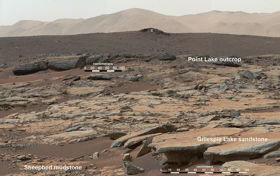 PIA17603 Erosion by Scarp Retreat in Gale Crater, Annotated Version