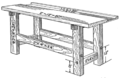 PSM V88 D167 Completed woordworking workbench without the vise.png