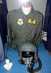 Pacific Air Forces jacket and helmet, Merrill McPeak exhibit - Oregon Air and Space Museum - Eugene, Oregon - DSC09899.jpg