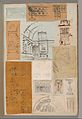 Page from a Scrapbook containing Drawings and Several Prints of Architecture, Interiors, Furniture and Other Objects MET DP372118.jpg