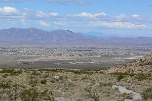 Pahrump Valley - view due west to north of  Nopah and Resting Spring Ranges
