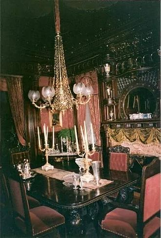 The Age of Innocence (1993 film) - Paine Mansion staged for the film The Age of Innocence with the Moorish Room staged as a dining room