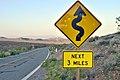 Panneau routier de Californie..JPG