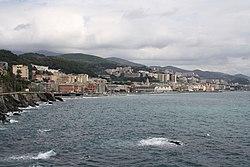View of Voltri from the Mulino di Crevari