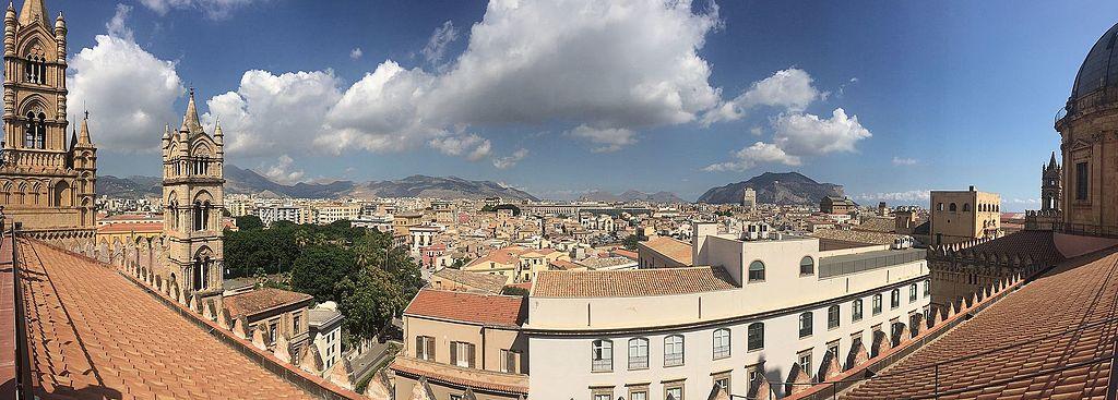 Vue panoramique de Palerme depuis la cathédrale - Photo de Wittylama