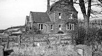 Papcastle station, remains 1952 (geograph 5314107).jpg