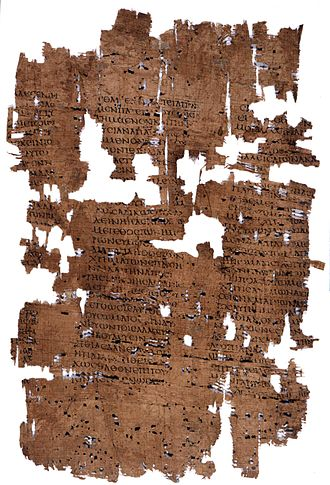 Isocrates - P. Oxy. 1183, late-1st-century-AD papyrus containing Isocrates's Trapeziticus 44–48.
