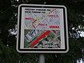 Pardubice, Dubina, lokalita 14 pro volné pobíhání psů, tabulka.jpg