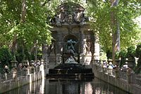 a closeup of the fontaine de medicis jardin du luxembourg paris - Jardin Du Luxembourg Paris
