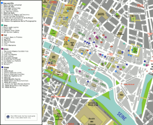 4th arrondissement of Paris - Map of the 4th arrondissement
