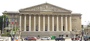 Politics of France - The National Assembly sits in the Palais Bourbon, by the Seine.
