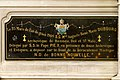 Partie gauche de la plaque commémorative du couronnement du tableau de Notre-Dame-de-Bonne-Nouvelle de l'église Saint-Aubin en Notre-Dame-de-Bonne-Nouvelle, Rennes, France.jpg